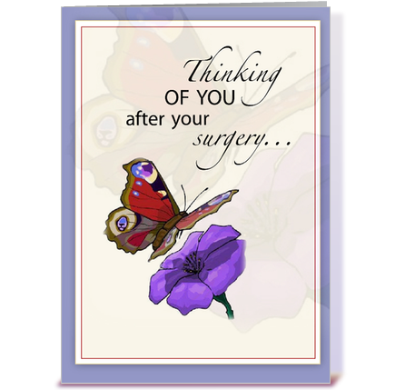 Butterfly Get Well After Surgery Greeting Card By Sandra Rose Designs Card Gnome