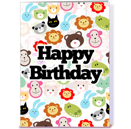 birthday wishes from all of us greeting card by print me a party, Greeting card