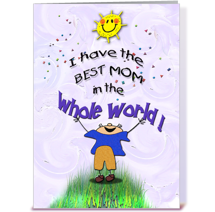 Best Mom from Son Mothers Day greeting card by MsCardSharque – Birthday Greeting Card for Mother
