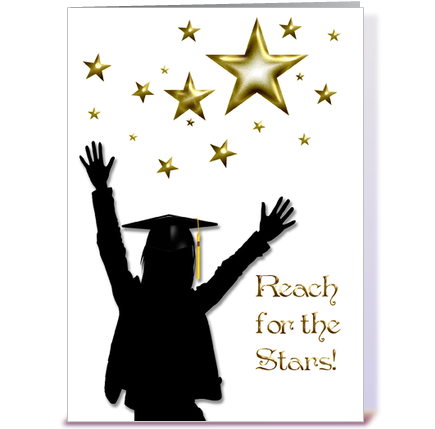 graduate congratulations stars female