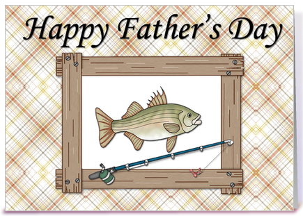 father s day fishing card