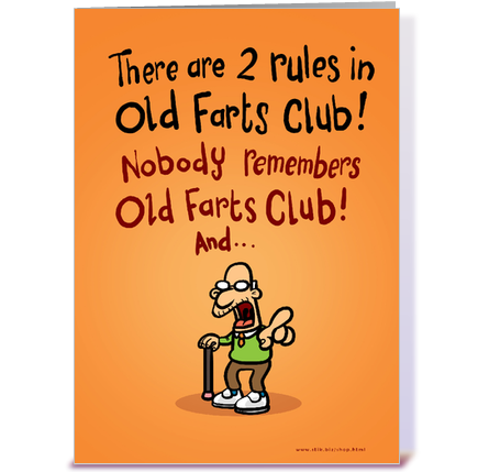 Old Farts Club Fathers Day card greeting card by StiKtoonz – Farting Birthday Cards