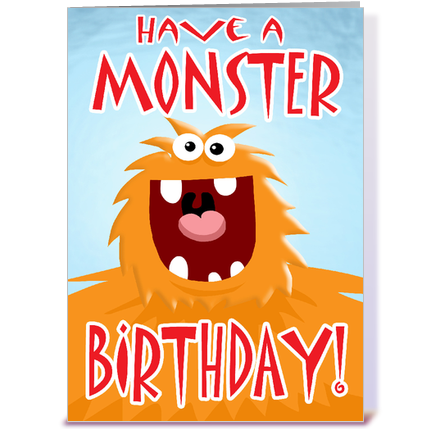 Little monster birthday clipart - ClipartFest