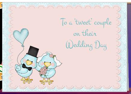 Blue Birds Wedding Congratulations greeting card by Starstock