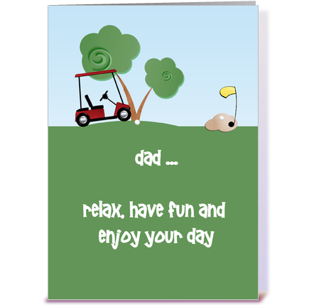 Golf greeting cards wblqual fathers day golf greeting card by starstock greetings card gnome greeting card m4hsunfo
