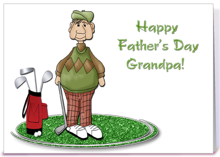 Golfing Grandpa, Father's Day greeting card by Starstock ...