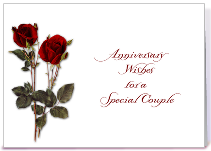 Red Roses Anniversary Wishes greeting card by Starstock Greetings ...