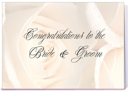 Soft Roses Wedding Congratulations greeting card by Starstock