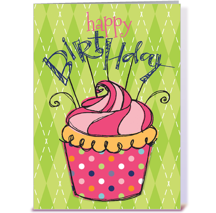 happy birthday cupcake greeting card by the jewel store  card gnome, Birthday card