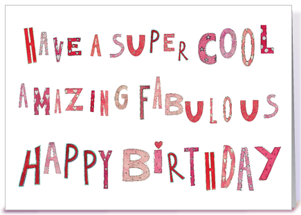 Super Cool Fabulous Happy Birthday greeting card by Love and – Cool Happy Birthday Card