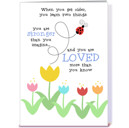 Ladybug Love greeting card by KleineDing Card Gnome – Ladybug Birthday Cards