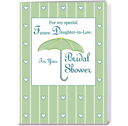 Future Daughter in Law Bridal Shower greeting card by Sandra Rose