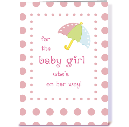 baby girl shower congratulations greeting card by sandra rose, Baby shower invitation