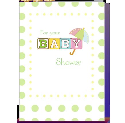 Green Baby Shower Congratulations, Dots