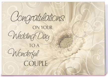 Wedding Day Congratulations White Swirls Designed By Dreaming Mind Cards