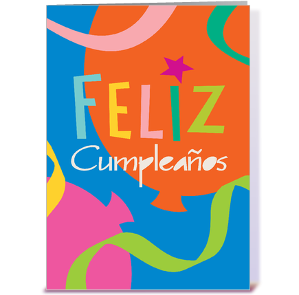 Happy Birthday Spanish greeting card by Bense Garza Card Gnome