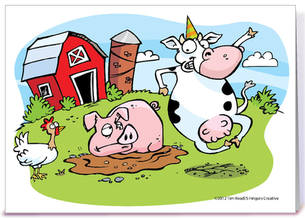 Cow greeting cards wblqual happy birthday cow greeting card by tim read illustration card gnome greeting card bookmarktalkfo Image collections