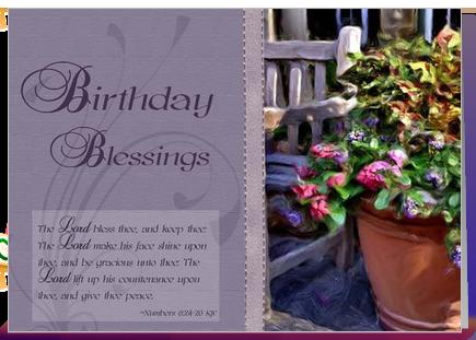 Similiar Birthday Blessings From The Bible Keywords – Spiritual Birthday Card