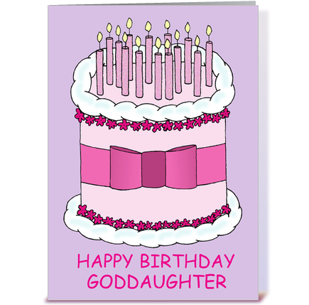 Happy Birthday Goddaughter greeting card by Kate Taylor Card Gnome – Goddaughter Birthday Cards