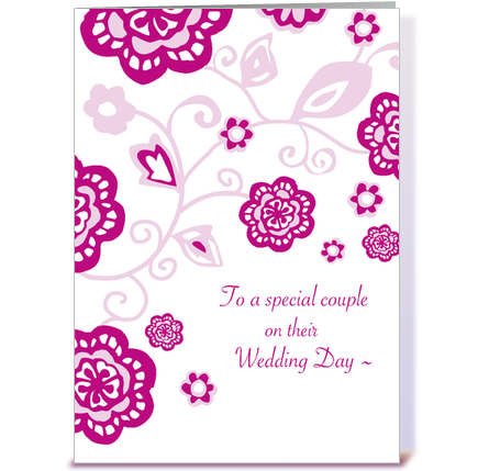 Wedding Day Wishes Greeting Card By Tilia Press
