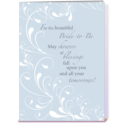 Wedding Shower Gift Card Phrases : Bridal Shower Congratulations Swirls greeting card by Sandra Rose ...