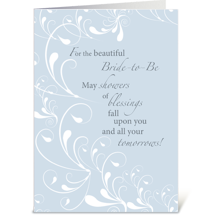 Wedding Shower Gift Card Messages : Bridal Shower Congratulations Swirls greeting card by Sandra Rose ...
