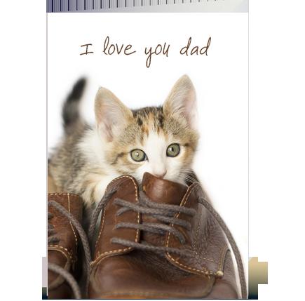 Kitten Love You Dad