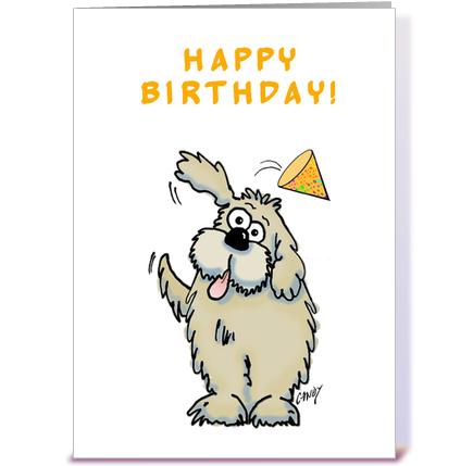 Happy birthday dog greeting card by graphicdoodles Card Gnome – Birthday Card for Dog