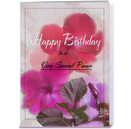 Happy Birthday to Special Person greeting card by MsCardSharque – Birthday Special Card