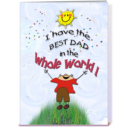 birthday to dad, from son greeting card by mscardsharque  card gnome, Birthday card