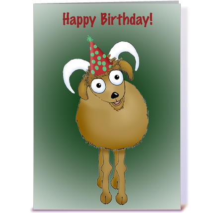 Happy Birthday Old Goat greeting card by graphicdoodles Card Gnome – Goat Birthday Card