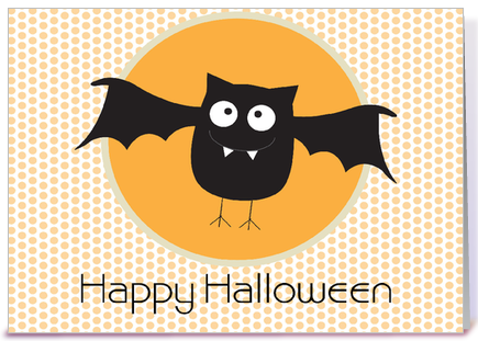 Happy Halloween Bat greeting card by Sweet Tooth Studio - Card Gnome